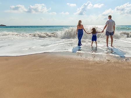 family a the beach